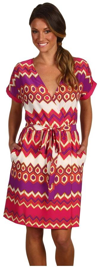Julie Dillon - Short Sleeve Printed Shirt Dress With Belt
