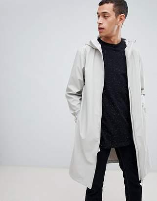 Rains 1241 base long jacket in gray