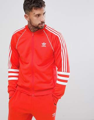 adidas Authentic Superstar Track Jacket In Red DJ2858