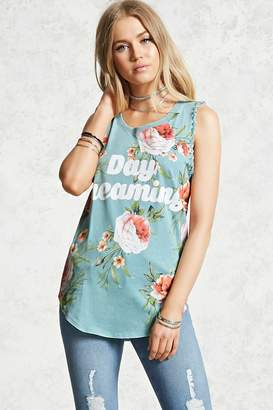 Forever 21 Day Dreaming Floral Tank Top