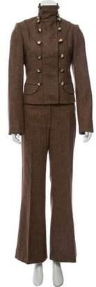 Peter Som Wool Tweed Pantsuit