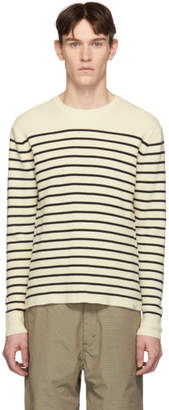 Norse Projects Off-White and Navy Stripe Verner Normandy Sweater