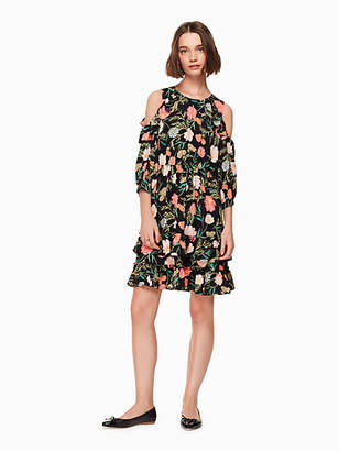 Kate Spade Blossom cold shoulder dress