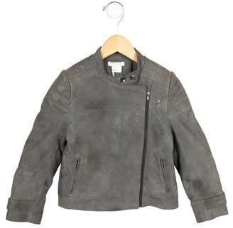 Chloé Girls' Suede Moto Jacket w/ Tags