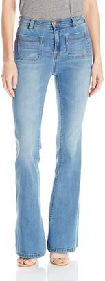 Dittos Women's Rosie Highrise Patched Pocket Flare Jean
