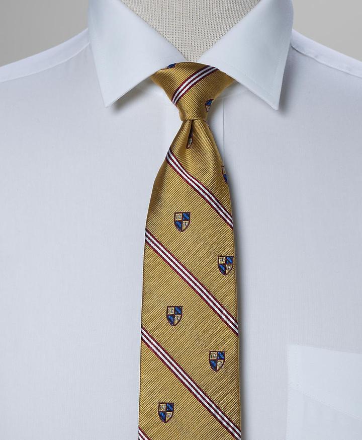 1818 Crest Stripe Slim Tie