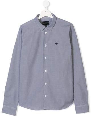 Emporio Armani Kids TEEN long-sleeve check shirt