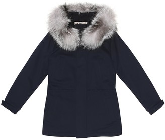 Loro Piana Kids Fur-trimmed cashmere coat