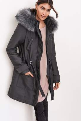 Next Womens Parka Grey 6R