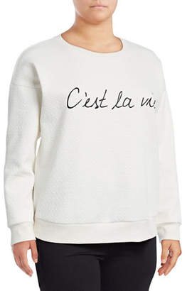 Marc New York Plus Banded C Est La Vi Sweatshirt