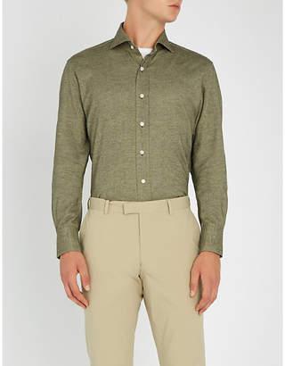 Emmett London Slim-fit brushed-cotton shirt