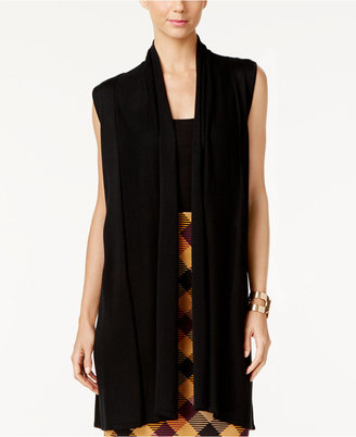Joseph A Shawl-Collar Duster Sweater Vest $60 thestylecure.com