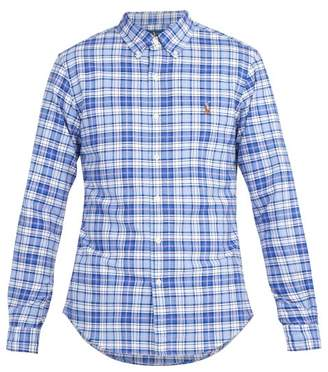 Polo Ralph Lauren Logo Embroidered Check Cotton Shirt - Mens - Blue Multi