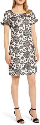 Karl Lagerfeld Paris Paris Embroidered Lace Cotton Dress