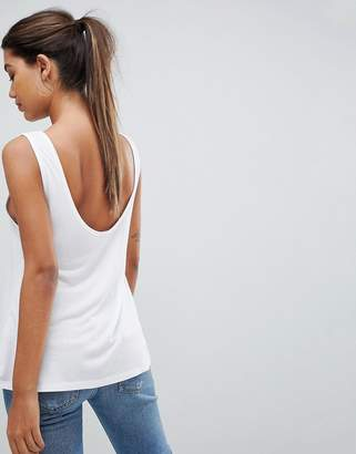 Asos DESIGN Sleeveless Top With Scoop Back