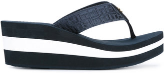 Tommy Hilfiger striped platform flip flops $66.52 thestylecure.com