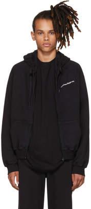 Vetements Black FREE-HUGS.COM Normal Fitted Zip Hoodie