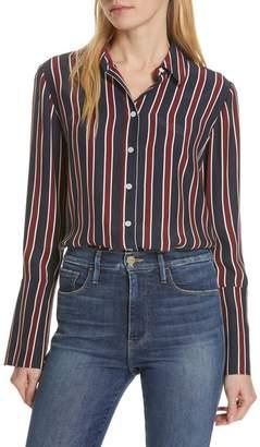 Frame Stripe Pajama Shirt