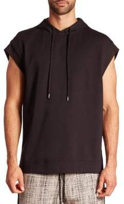 Public School Solid Cap Sleeve Hoodie