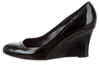 Kate Spade Kate Spade New York Patent Leather Round-Toe Wedges