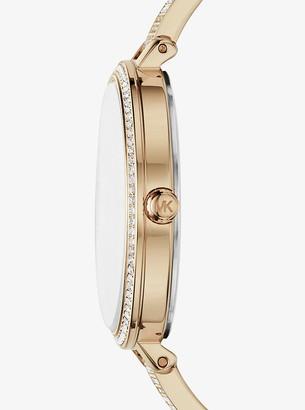 Michael Kors Jaryn Pave Gold-Tone Watch