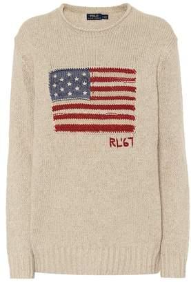 Polo Ralph Lauren Flag cotton and linen-blend sweater