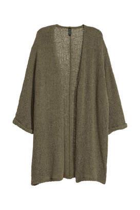 H&M Loose-knit Cardigan - Khaki green - Women