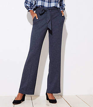 LOFT Trousers in Speckled Tie Waist in Julie Fit