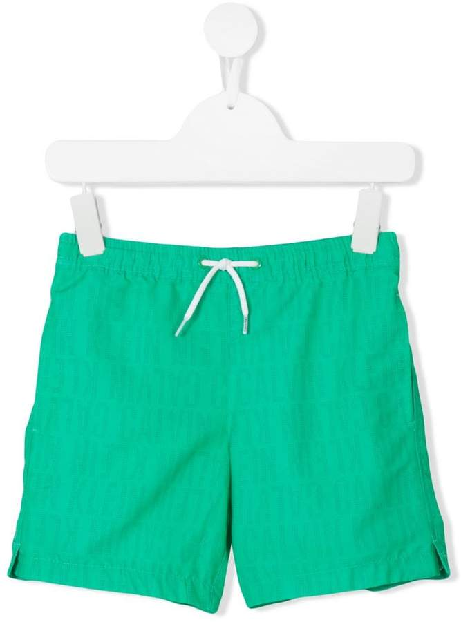 Calvin Klein Kids all-over logo print shorts