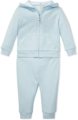 45203d6decc Polo Ralph Lauren Baby Boys French Terry Hoodie   Pants Set