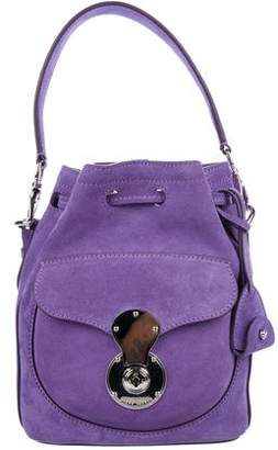 Ralph Lauren Suede Ricky Bucket Bag