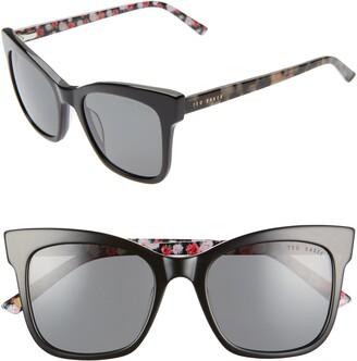 Ted Baker 51mm Polarized Cat Eye Sunglasses