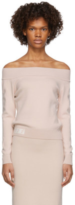 Fendi Pink Forever Off-The-Shoulder Sweater