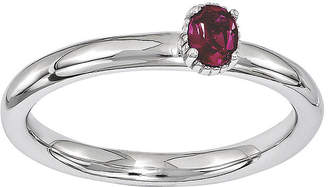 JCPenney FINE JEWELRY Personally Stackable Lab-Created Ruby Off-Center Ring