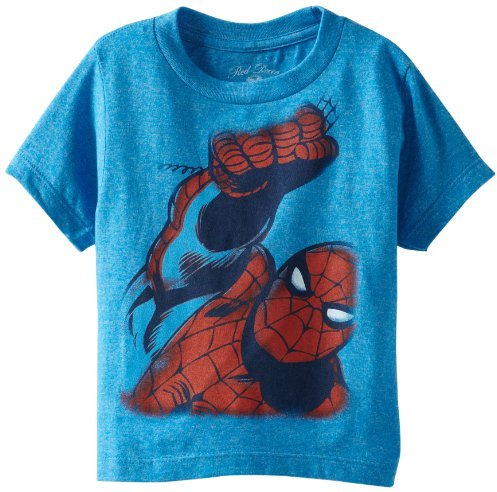 Spiderman Boys 2-7 Up And Away Tee