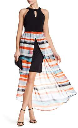 ECI Sleeveless Hi-Lo Slit Maxi Dress