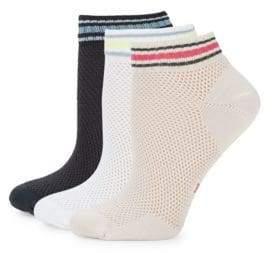 Hue Three-Pack Air Sleek Mesh Low Rider Socks