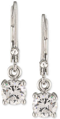 Carolee Silver-Tone Crystal Drop Earrings