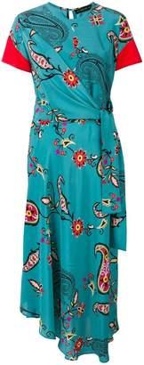 Etro floral paisley print maxi dress