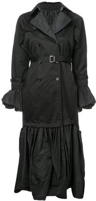 Noir gothic style trench coat