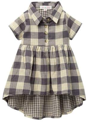 Mimi & Maggie Dovetail Plaid Dress (Baby & Little Girls)