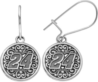 """Insignia Collection NASCAR Jeff Gordon Stainless Steel """"24"""" Drop Earrings"""
