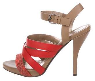Lanvin Leather Multi-Strap Sandals
