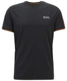 BOSS Hugo Slim-fit T-shirt in moisture-wicking technical fabric L Black