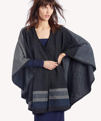 Sole Society Women's Reversible Sweater Wrap Black One Size Acrylic From