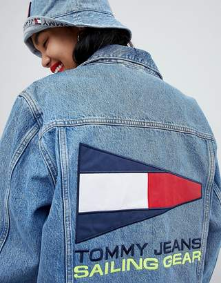 Tommy Jeans 90s Capsule 5.0 Denim Jacket With Back Sailing Logo