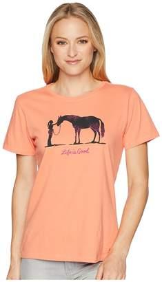 Life is Good Besties Horse Crusher Tee Women's T Shirt