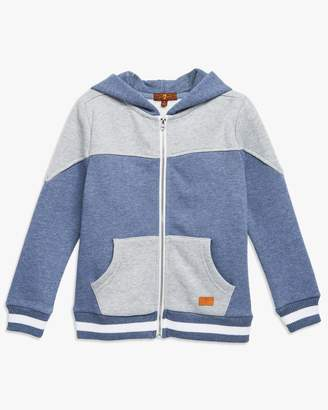 7 For All Mankind Boys 4-7 Hoodie in Heather Grey