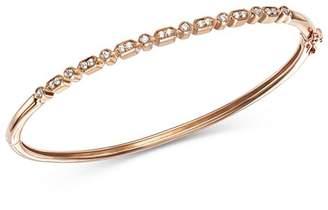 Bloomingdale's Alternating Diamond & Milgrain Bangle in 14K Rose Gold, 0.25 ct. t.w. - 100% Exclusive