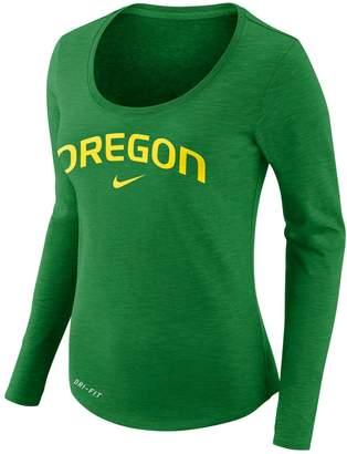 Nike Women's Oregon Ducks Slubbed Dri-FIT Tee